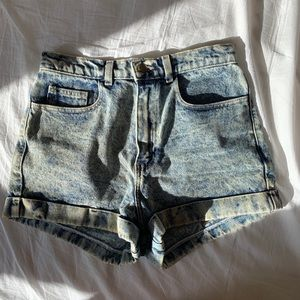 American Apparel Acid Wash Denim Shorts